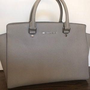 Michael Kors grey/silver leather handbag